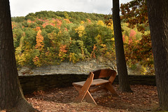 Serene (E.Duthe) Tags: bench letchworth state park ny nature serene fall leaves color picturesque alone secluded