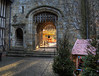 Looking out of Hever Castle at Christmas (neilalderney123) Tags: ©2016neilhoward kent castle portcullis olympus christmas entrance history old
