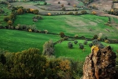 The field... (Rickydavid) Tags: landscape panorama celleno field campo green verde ruin rovine cittàperduta