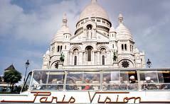 Paris Vision (sigmanow) Tags: sacrecoeur paris scan ektachrome nikonfe 35mm epsonv700 city montmartre film analog europe national people clouds church sky