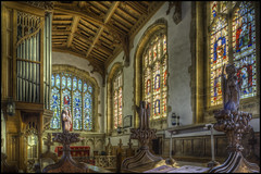 Castle Ashby - Church 7 (Darwinsgift) Tags: chantry stained glass organ castle ashby church interior northamptonshire nikkor 24mm pce f35 hdr tripod multiple exposure photomatix pro 5 photoshop camera raw nikon d810 chancel wood carving pews