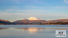 Well Dusted (RabbieJT) Tags: scottish mountains munro sunset snow dusted dust last light loch lomond ben