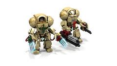 Deathwing Terminators (CK-MCMLXXXI) Tags: lego digital render warhammer 40000 terminator mecha spacemarine darkangels deathwing ldd 40k