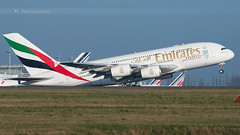 EMIRATES A380-861 (lavierphilippephotographie) Tags: a380 airbus industries emirates dcollage roissy
