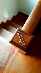 Closet keys (lori.jane) Tags: closet skeleton key farmhouse alberta rural stair rail