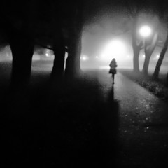 Weekend Project: Foggy night walk 3 (Thiophene_Guy) Tags: thiopheneguy originalworks olympustoughtg4 tg4 olympustg4 olympusstylustg4 tough snow night utataweekendproject utata:project=night negativespace intothelight backlighting contrejour