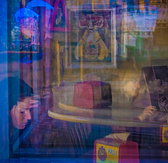 untitled, chicago, il  2016 (james aubry) Tags: dimensions contrast emotion chicago reflection reflections surreal portrait portraiture women complex enigma lucid deep
