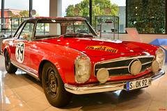 1963 Mercedes Benz 230SL Rally --- EXPLORED!  12/2/16 (Pat Durkin OC) Tags: 1963mercedesbenz 230sl rally red w113 eugenbohringer klauskaiser mercedesbenzmuseum