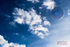 Like a Bubble (Geoffrey B Photography) Tags: sky blue ciel nuage bleu bulle bubble clouds cloud cloudy lightness