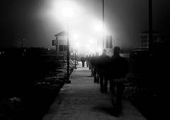 Meet us at the end of the lights (ZaMatti) Tags: bn bianco e nero abstract people