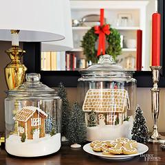 Gingerbread House Terrarium/Snowglobes (Heath & the B.L.T. boys) Tags: christmas jars wreath diy cookies gingerbreadhouse gingerbreadman