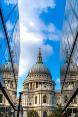 Which is the real one (21mapple) Tags: stpauls stpaulscathedral cathedral religion religious london refelection reflections england britain british sky clouds blue canon750d canon canoneos750d canoneos outdoors outdoor outside old out