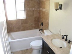 Remodeled Upstairs Bath with travitine title (joeymcgee76) Tags: ca 3 way view front antelope lonestar 4856 95843