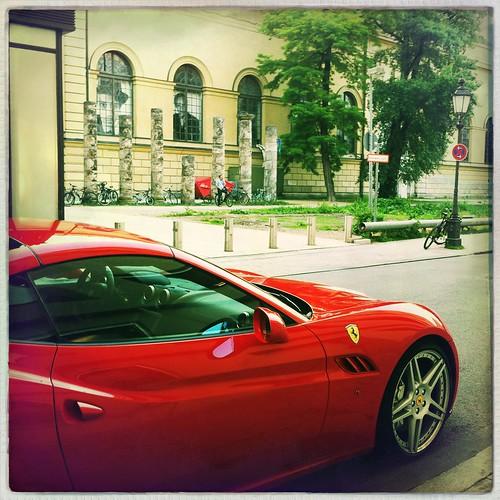 Red Car & Pillars