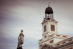 Mariblanca (rafa_luque) Tags: madrid city sol up spain symbol cloudy landmarks landmark center mariblanca