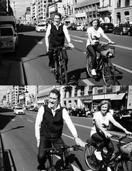 [La Mia Citt][Pedala] parecchio nelle Domeniche a piedi ... (Urca) Tags: portrait blackandwhite bw italia milano bn ciclista biancoenero bicicletta pedalare 2013 dittico ritrattostradale nikondigitalefilippetta 575117