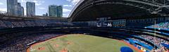 skydome panorama (Trevor Pritchard) Tags: panorama toronto baseball stadium august skydome bluejays jays 2013 baseballisnotplayedinacentre