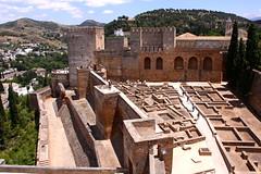 The Alcazaba (MykReeve) Tags: espaa wall spain andalucia alhambra granada walls andalusia alcazaba