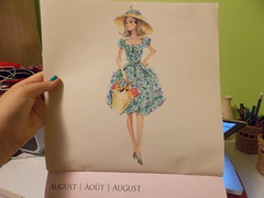 August (marinaamiller) Tags: sketch calendar barbie 2013