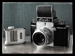 Exa v.6 (Eirik0304) Tags: camera blackandwhite bw slr monochrome norway zeiss norge 135 exa iphone ihagee 50f28 iphoneography ©edrussellroberts