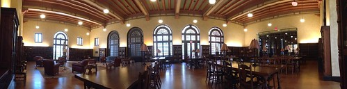 The reading room in Houston Public Library
