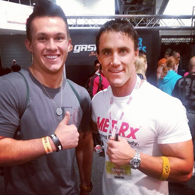 Yea this just happened.. Greg Plitt!!!! !!! Such a cool down to Earth person to talk to! Check out his YouTube videos that are a pre-workout in themselves! @officialgregplitt #mrolympia #expo #MFT28