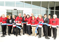 Michael attends the grand opening of the new twin rinks at Mold-Masters SportsPlex in Georgetown