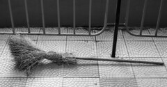 Ready to Fly (Dr. Harout) Tags: bw monochrome minolta noiretblanc sony armenia yerevan broom broomstick amount dyxum minolta5017 slta99v