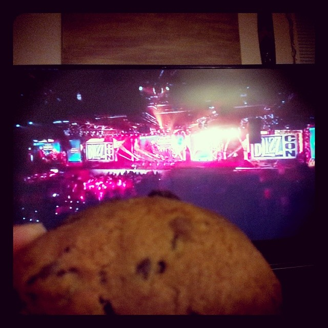 Tried to watch the Blizzcon WoW Whats Next panel but their audio was being drowned out by SC2 cheering. So I gave up and had a cookie. I wish they had a game called World of Pets that just did mobile pet battling. #blizzcon #moremeh