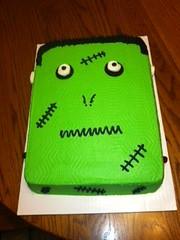 Frankenstein Cake by Pat, Marion, IA, www.birthdaycakes4free.com