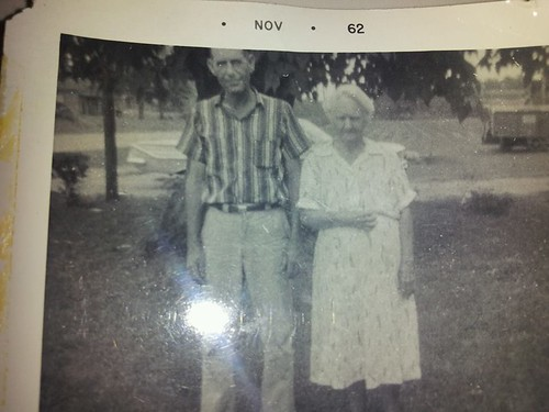 Dewey Copeland and his mother, Myrtle (Crider) Copeland, November 1962.