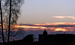 Looking for... (BigWhitePelican) Tags: november sunset silhouette finland evening helsinki 2013 taivaskallio canoneos7d adobelightroom4
