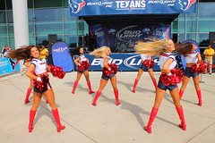 IMG_8904 (grooverman) Tags: plaza game sexy canon eos rebel football nice texas cheerleaders legs boots stadium nfl houston t3 dslr budweiser texans pregame reliant 2013