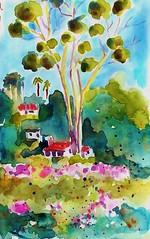 Nearby the Santa Barbara Mission (BonnieBuchananKingry) Tags: paintings