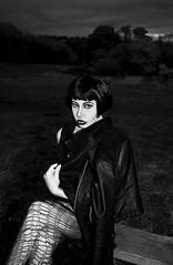 Little Black Jacket (majestiele.co.uk) Tags: park white black bench makeup bob jacket wig facepaint highlight contour farnham siouxsie mua sioux
