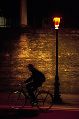 Darkshines (the bbp) Tags: street light shadow italy lamp bike night lights strada italia shadows ombra streetphotography ombre bici luci notte luce vicenza lampione bicicletta streelamp cicycle thebbp