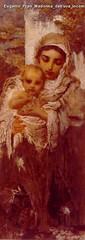 Eugenio Prati Madonna dell'uva incompiuto 1898-1902 olio su tela 123 x 45 cm Collezione privata