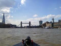 Upstream towards Tower Bridge (Seajays) Tags: london towerbridge shard riverthames