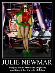 BATMAN 1966 : Julie Newmar as Robin the Bodacious Wonder (DarkJediKnight) Tags: robin poster humor fake 1966 batman parody spoof catwoman motivational julienewmar