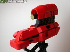 Fyrespread (Dead Frog inc.) Tags: fiction green scale fire spread ship lego space olive mini science micro scifi spaceship fi midi sci transporter moc zyclops