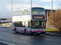 First Glasgow Dennis Trident 32983 Blantyre 11/01/14 (David_92) Tags: road glasgow president first dennis trident lanarkshire slf blantyre plaxton nlf 32983 y344 y344nlf