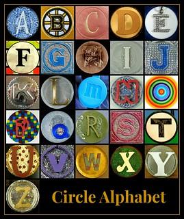 circle alphabet poster