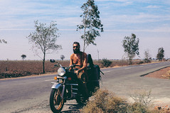Motorcycle Man, India (Zhenya bakanovaAlex Grabchilev) Tags: road trip travel summer india man male travelling bike beard asia driving young adventure story motorbike riding teen journey biker
