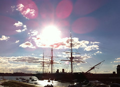 NV11 - HMS Warrior in the sun