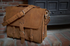 Saddleback Leather Front Pocket Briefcase (BHCMBailey) Tags: new leather bag front pocket briefcase tobacco saddleback