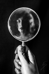 Magnifying Glass 3 (Alex Gartzo) Tags: portrait reflection face mirror hand magnifyingglass magnifying