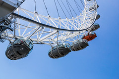 Eye eye (james42andrew) Tags: city blue england sky cloud sun reflection london eye tower castle water clouds river lens landscape mirror boat cityscape sony capital canary alpha dslr slt a77 briton londontown