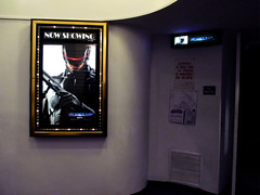 RoboCop 5010 (Brechtbug) Tags: from street new york city nyc original fiction film electric movie subway poster marquee robot construction theater cops manhattan space 1987 police science billboard 2nd robots midtown american cop scifi behind february cyborg hiding avenue robocop android futuristic hustle 2014 beekman standee 02122014