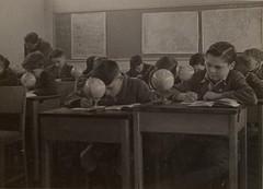 Geography Lesson (trashingdays) Tags: vintage globe classroom geography schoolboy