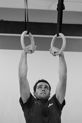 Muscle up (bflinch1) Tags: portrait blackandwhite concentration rings workout crossfit muscleup